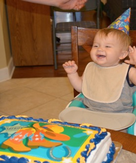 Levi's 1-year birthday party