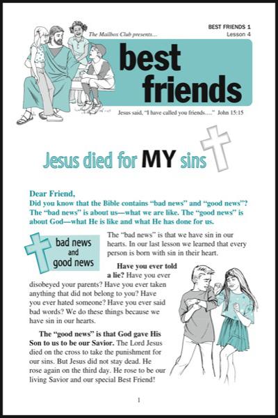 best_friends_1___lesson_4_jesus_died_for_my_sins